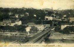 LYON. - Le Pont du Chemin de Fer sur la Saône. - Coteau de Saint-Irénée