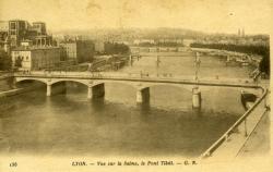 Lyon. - Vue sur la Saône, le Pont Tilsit.