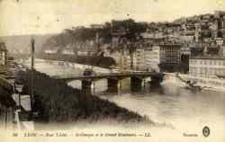 Lyon. - Pont Tilsitt. - St-Georges et le Grand Séminaire.