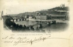 Lyon - Le Palais de Justice et le Coteau de Fourvière.