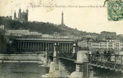 Lyon - Côteau de Fourvière, Palais de Justice et Pont du Palais