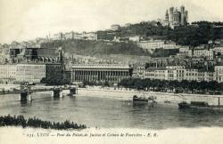 Lyon - Pont du Palais de Justice et Coteau de Fourvière