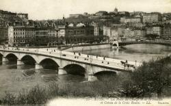 Lyon. - Les Ponts du Change et de la Feuillée et Coteau de la Croix Rousse..