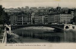 Lyon - Pont de la Feuillée et la Croix-Rousse.