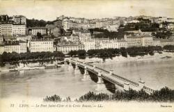 Lyon. - Le Pont Saint-Clair et la Croix-Rousse.