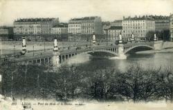 Lyon - Pont du Midi et le Rhône.