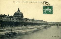 Lyon. - L'Hôtel-Dieu (Quai de l'Hôpital) - Le Rhône
