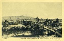 Lyon... le pont de la Guillotière vers 1825 (dessin anonyme, musée de Gadagne)