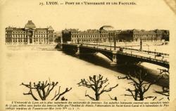 Lyon - Pont de l'Université et les Facultés.