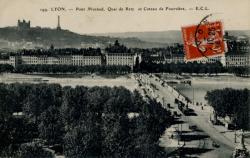 Lyon. - Pont Morand. Quai de Retz et Coteau de Fourvière