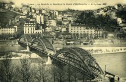 Lyon - Le Pont de la Boucle et le Cours d'Herbouville