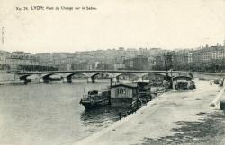 Lyon : Pont du Change sur la Saône.