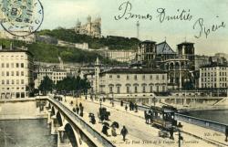 Lyon. - Le Pont Tilsit et le Coteau de Fourvière