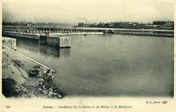 Lyon - Confluent de la Saône et du Rhône à la Mulatière