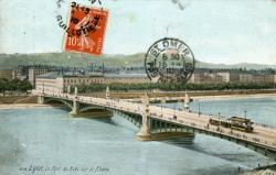 Lyon. Le Pont du Midi sur le Rhône.