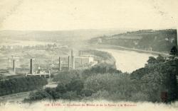 Lyon. - Confluent du Rhône et de la Saône à la Mulatière