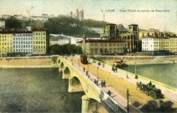 Lyon - Pont Tilsit et Coteau de Fourvière