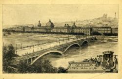 Pont Wilson. Lyon. 14 Juillet 1918.