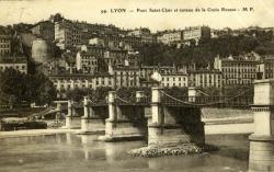 Lyon - Pont Saint-Clair et coteau de la Croix Rousse