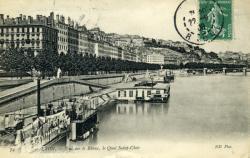 Lyon. - Vue sur le Rhône, le Quai Saint-Clair
