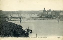 Lyon - Passerelle du Collège et les Ponts du Rhône
