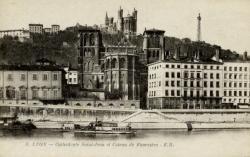 Lyon - Cathédrale Saint-Jean et Coteau de Fourvière