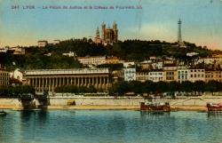 Lyon - Le Palais de Justice et le Côteau de Fourvière.