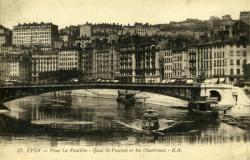 Lyon. - Pont Lafeuillée -Quai St-Vincent et les Chartreux