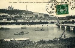 Lyon. - Quai de Bondy - Pont du Change - Coteau de Fourvière