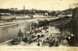Lyon Vaise - Place du Pont-Mouton et vue sur le Quai Serin