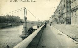 Lyon. - Passerelle Saint-Georges.