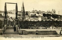 Lyon. - Passerelle et Eglise Saint-Georges - Quai Fulchiron