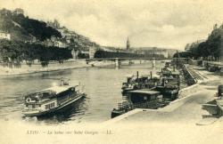 Lyon. - La Saône vers Saint-Georges.