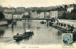 Lyon. - Vue sur la Saône