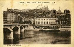 Lyon. - Pont Tilsitt et Coteau de Fourvière