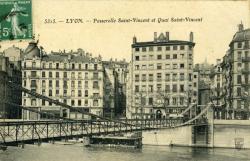 Lyon. - Passerelle Saint-Vincent et Quai Saint-Vincent