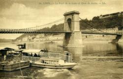 Lyon. - Le Pont de la Gare et le Quai Serin.