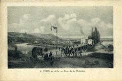 Lyon en 1850. - Pont de la Mulatière