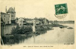 Quai de Villevert, vue à droite du Pont