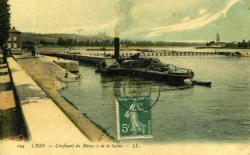 Lyon - Confluent du Rhône et de la Saône.
