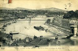 Lyon. - Pont Mouton - Pont de la Gare et Collines du Mont d'Or
