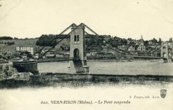 Vernaison (Rhône) - Le Pont suspendu