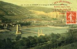 Le pont de Couzon et le barrage de Rochetaillée (Rhône)