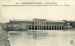 Villeurbanne (Rhône). - Canal de Jonage.