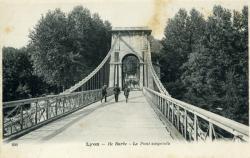 Lyon. - L'Ile Barbe. - Le Pont suspendu
