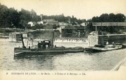 Environs de Lyon - L'Ile Barbe. - L'Ecluse et le Barrage