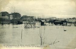 Les Innondations du Rhône (Janvier 1910)