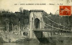 Saint-Rambert-L'Ile Barbe. -(Rhône). - Le Pont