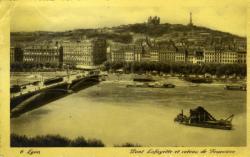 Pont Lafayette et coteau de Fourvière.