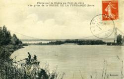Pêche sur le Rhône au Pont de Jons